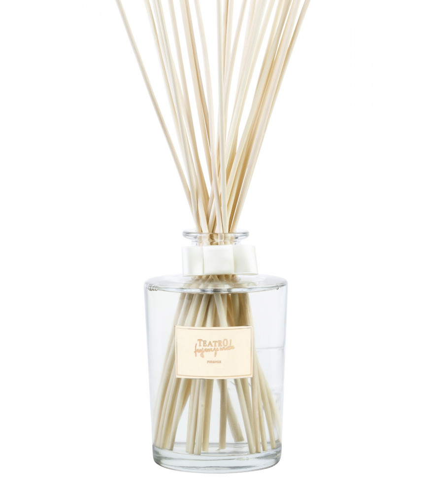 NEW - Cotton Puff in transparent glass decanter